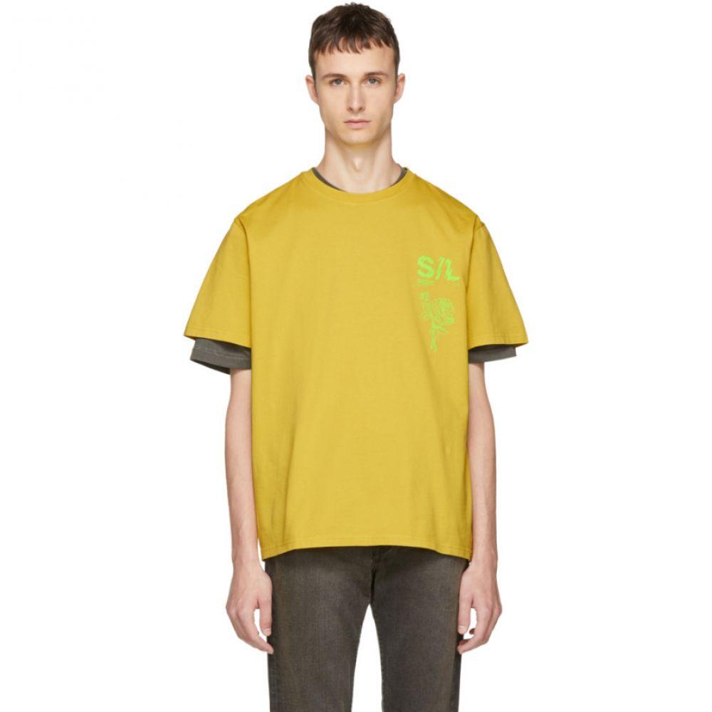 セカンド レイヤー メンズ トップス Tシャツ【Yellow Shattered Logo T-Shirt】