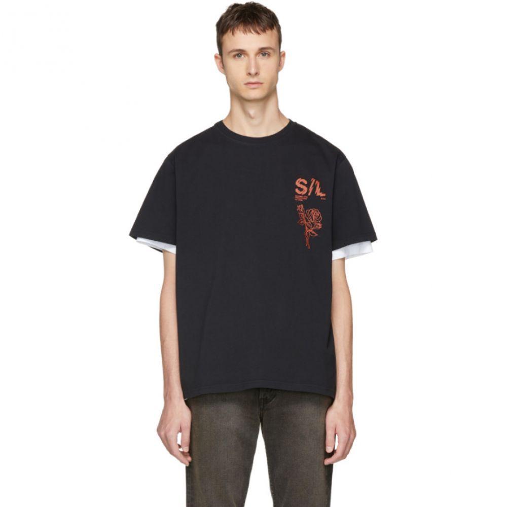 セカンド レイヤー メンズ トップス Tシャツ【Black Shattered Logo T-Shirt】