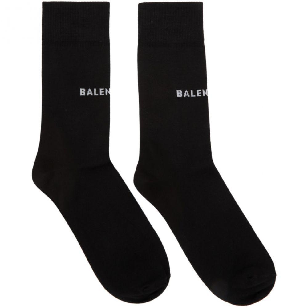 バレンシアガ レディース インナー・下着 ソックス【Black Tight Logo Socks】