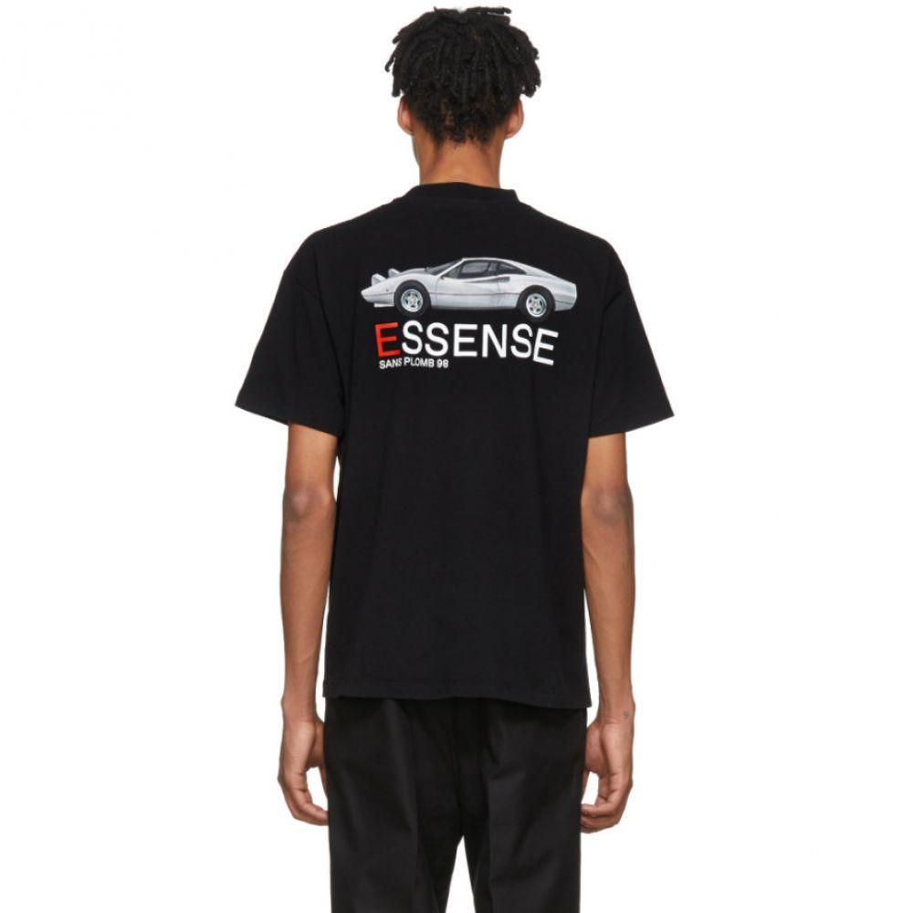 カー メンズ トップス Tシャツ【SSENSE Exclusive Black Ferrari T-Shirt】