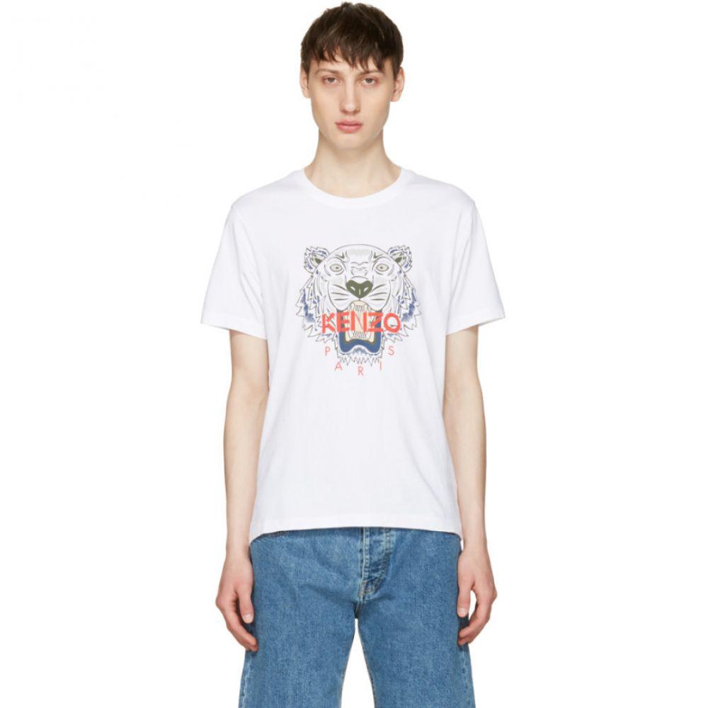 ケンゾー メンズ トップス Tシャツ【White Limited Edition Tiger T-Shirt】