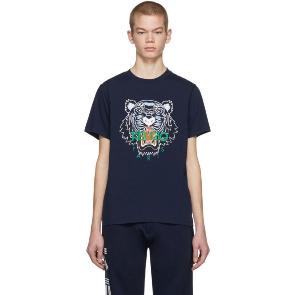 ケンゾー メンズ トップス Tシャツ【Navy Tiger Logo T-Shirt】