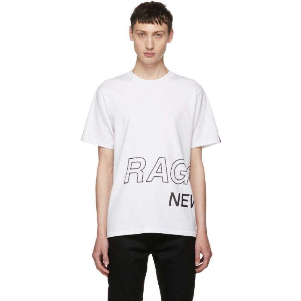 ラグ&ボーン メンズ トップス Tシャツ【White Wrap Around Logo T-Shirt】