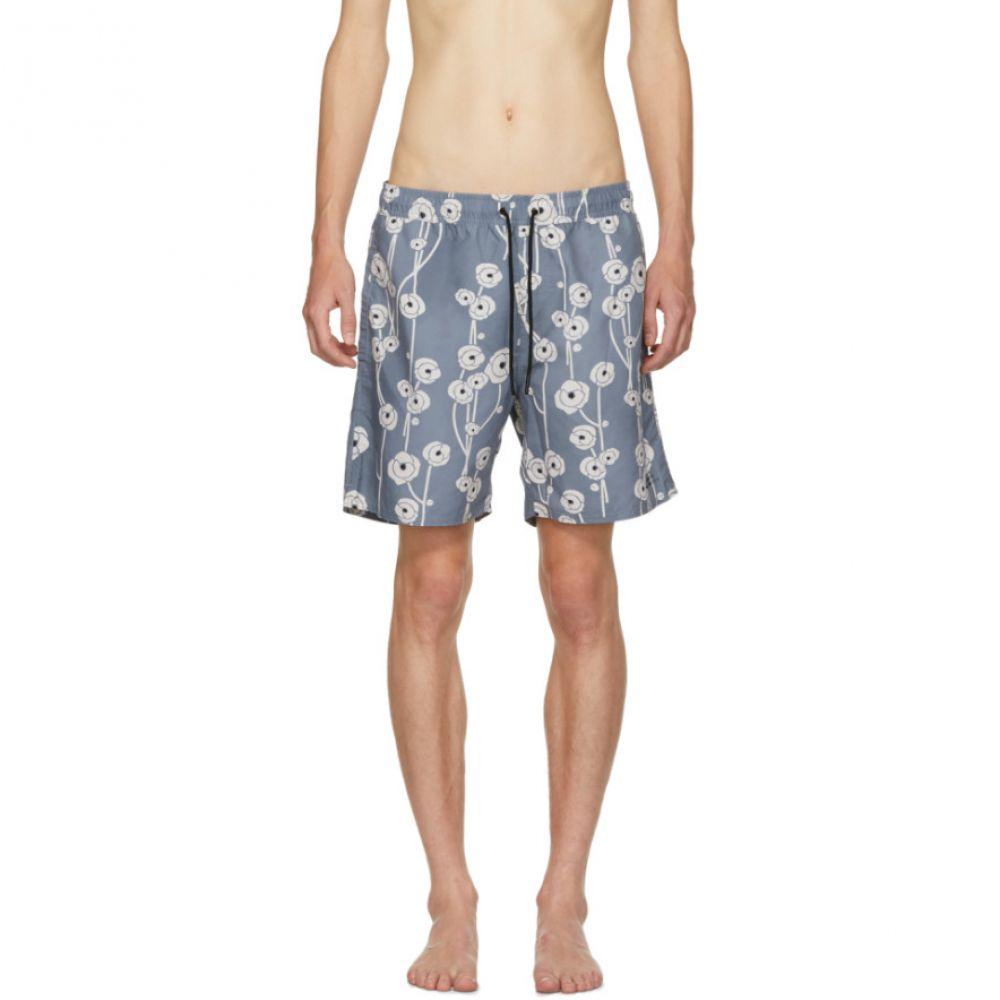 サタデーニューヨーク メンズ 水着・ビーチウェア 海パン【Blue Timothy Poppy Swim Shorts】
