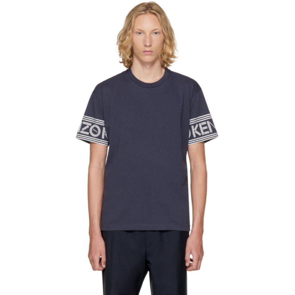 ケンゾー メンズ トップス Tシャツ【Blue Logo Sleeve T-Shirt】