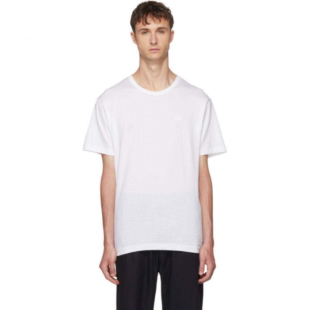 アクネ ストゥディオズ メンズ トップス Tシャツ【White Nash Face T-Shirt】