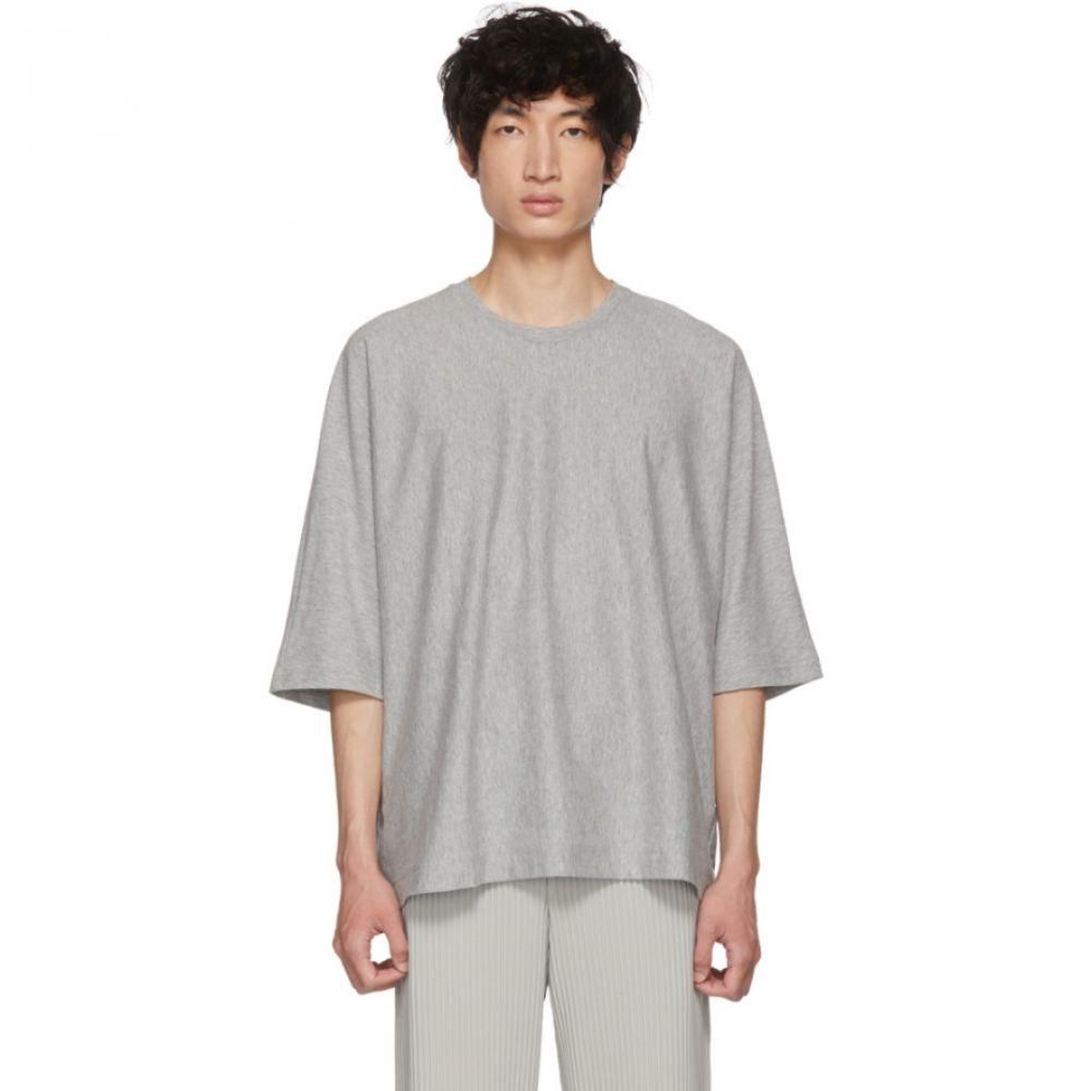 イッセイ ミヤケ メンズ トップス Tシャツ【Grey Release T-Shirt】