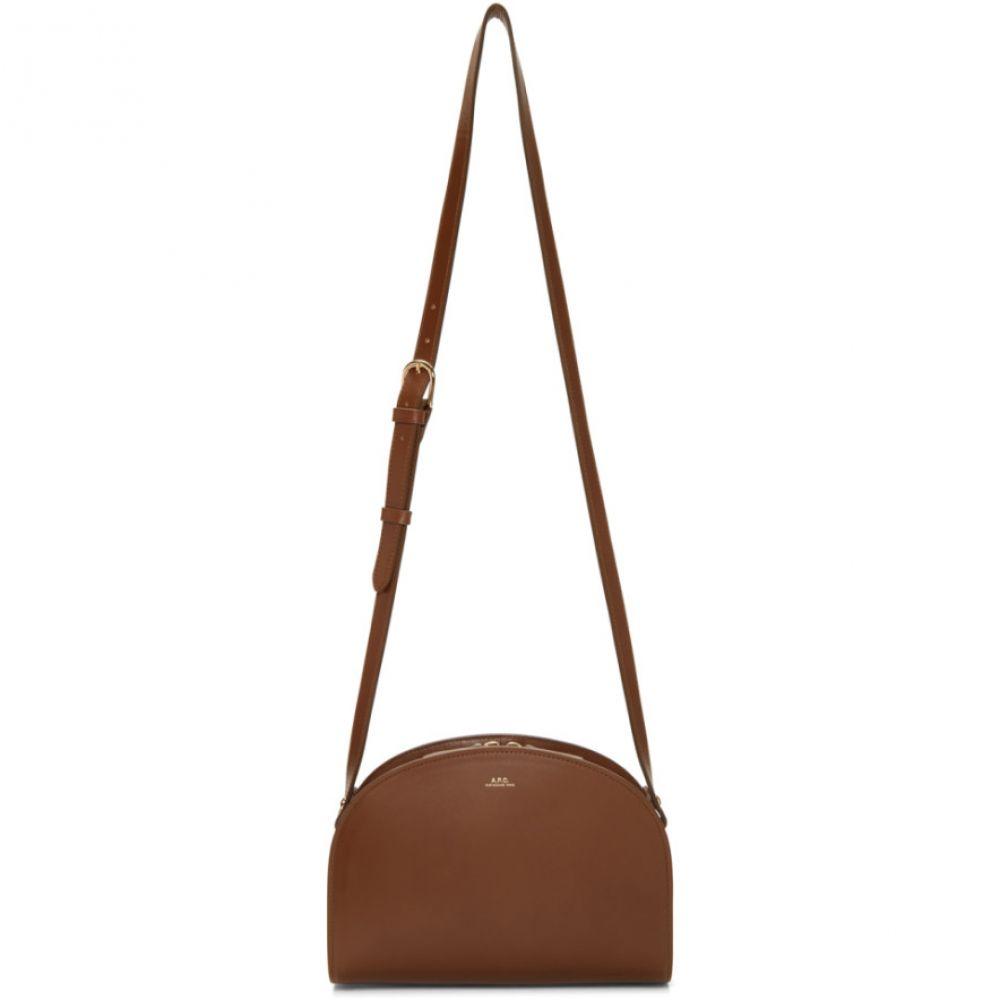 アーペーセー レディース バッグ ショルダーバッグ【Brown Half-Moon Bag】