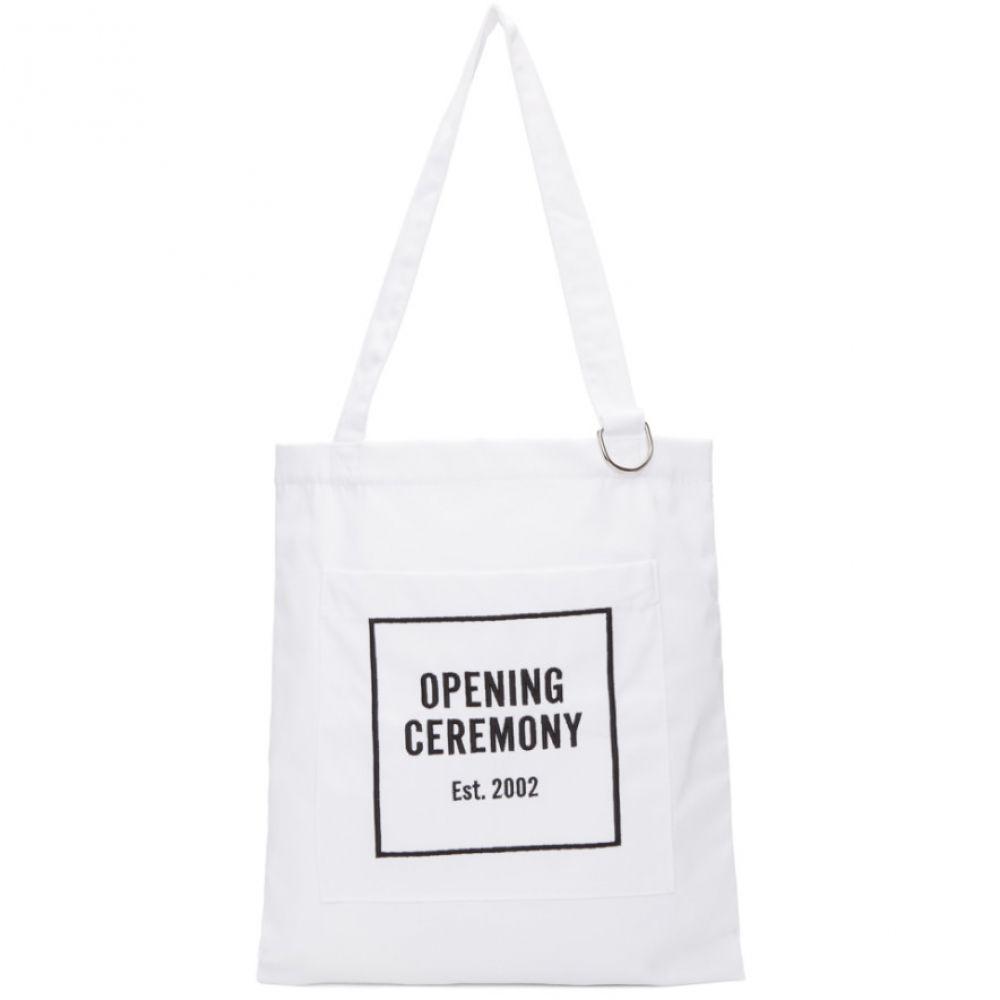 オープニングセレモニー レディース バッグ トートバッグ【White Classic Logo Tote】