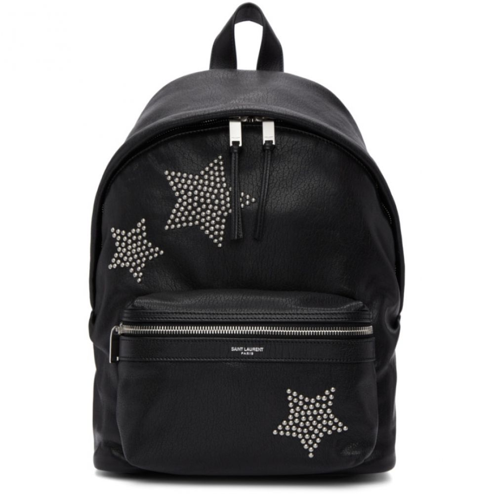 イヴ サンローラン レディース バッグ バックパック・リュック【Black Star Studded Mini City Backpack】