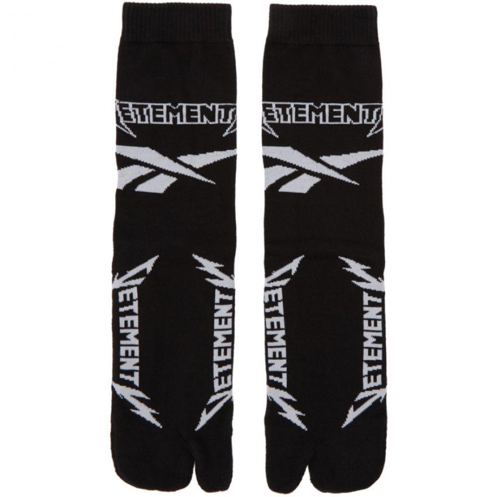 ヴェトモン レディース インナー・下着 ソックス【Black & White Reebok Edition Metal Split Toe Socks】