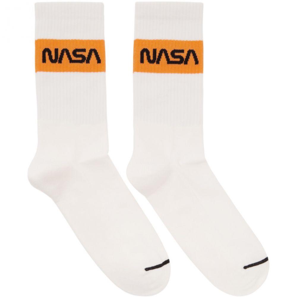 ヘロン プレストン レディース インナー・下着 ソックス【White NASA Edition Cotton Rib Socks】