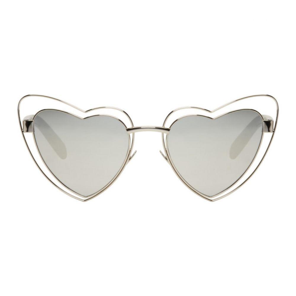 イヴ サンローラン レディース メガネ・サングラス【Silver SL 197 Lou Lou Cut-Out Sunglasses】