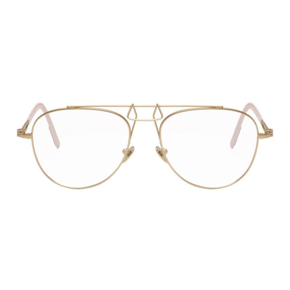 カルバンクライン レディース メガネ・サングラス【Gold Clip Bridge Aviator Glasses】