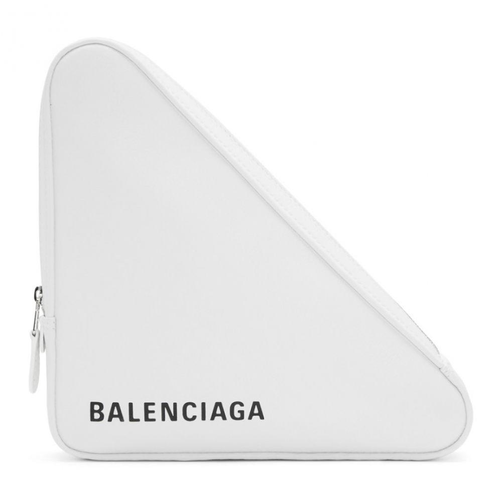 バレンシアガ レディース Medium レディース バッグ クラッチバッグ Triangle【White Medium Triangle Pouch】, やきもの工房炎:495bb9bc --- sunward.msk.ru