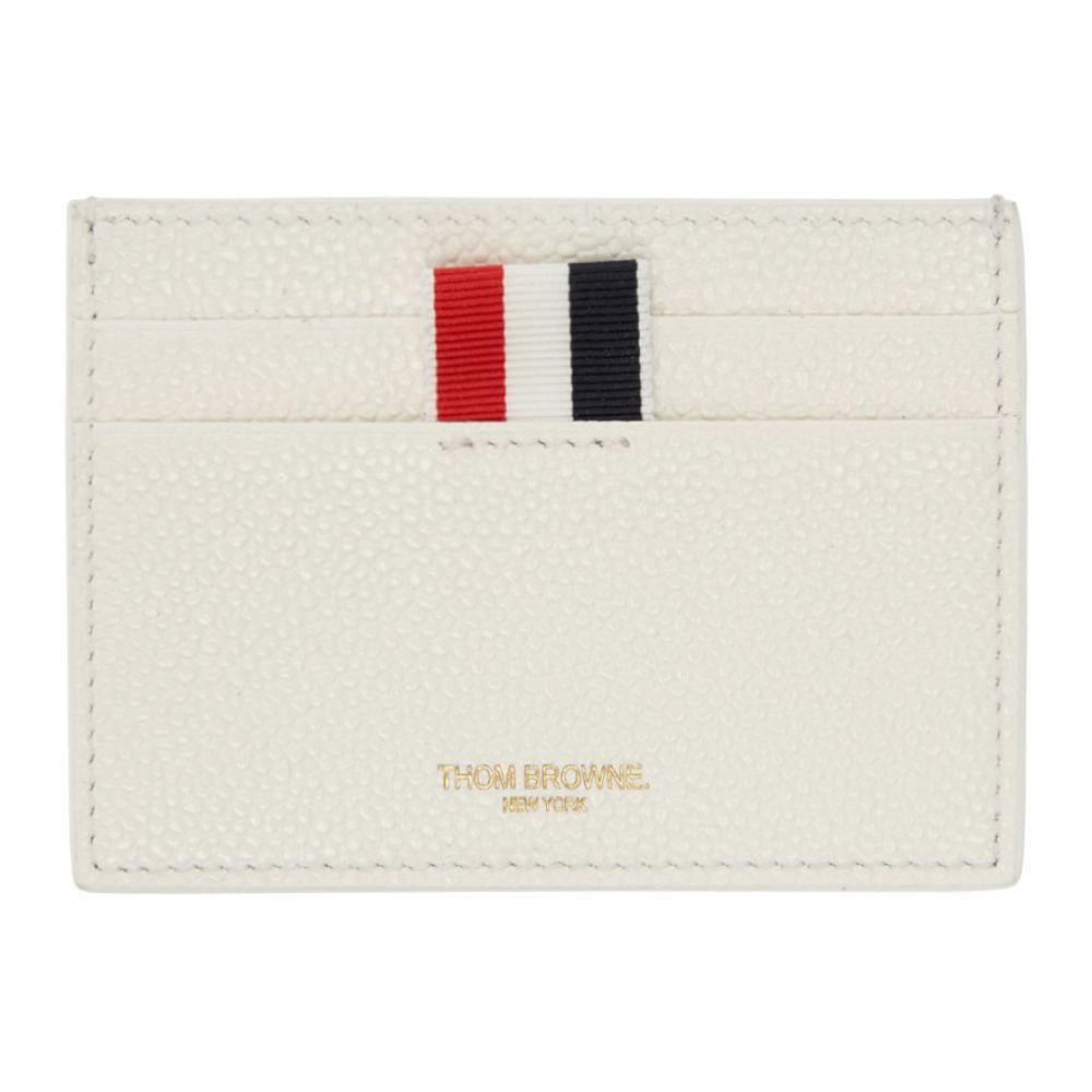 トム ブラウン レディース カードケース・名刺入れ【SSENSE Exclusive White Single Card Holder】