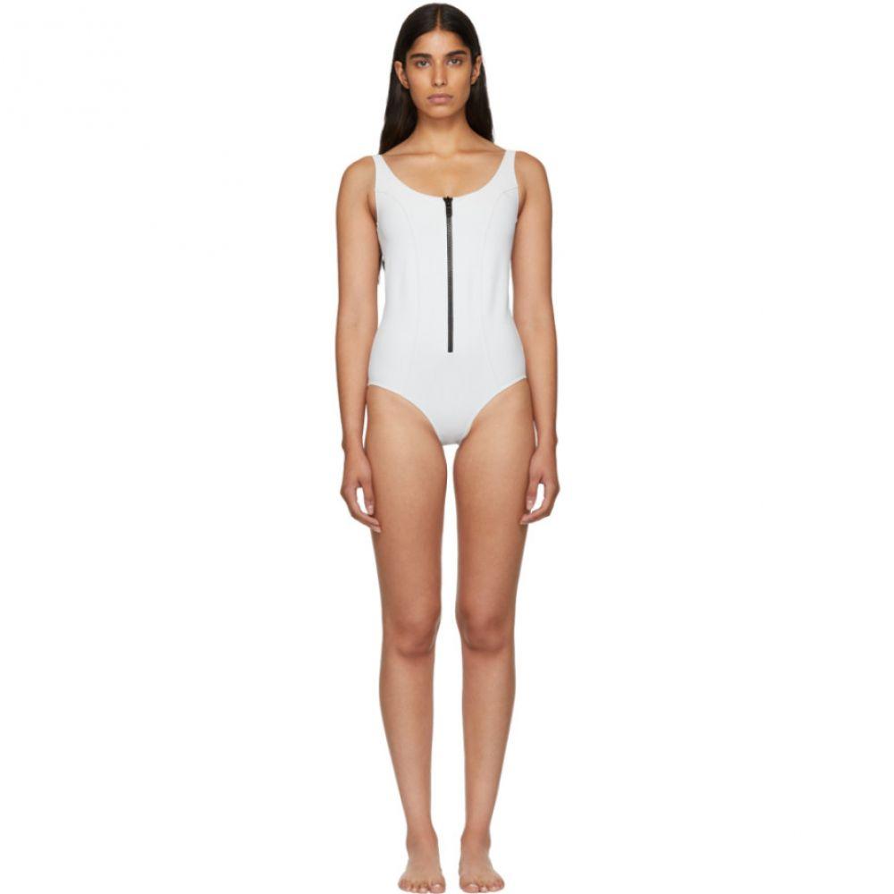 リサ マリー フェルナンデス レディース 水着・ビーチウェア ワンピース【White Jasmine Bonded Swimsuit】