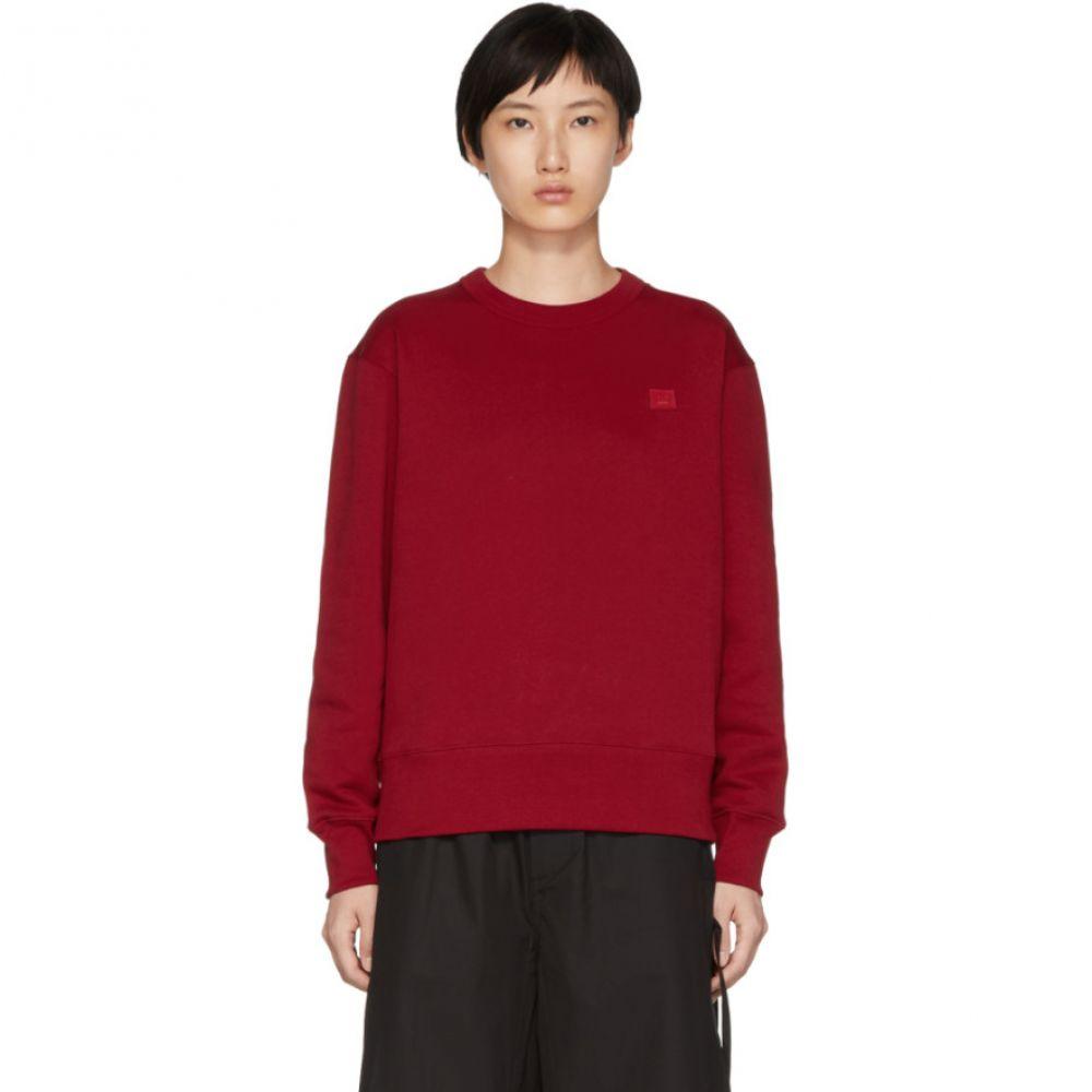 アクネ ストゥディオズ レディース トップス スウェット・トレーナー【Red Fairview Face Sweatshirt】