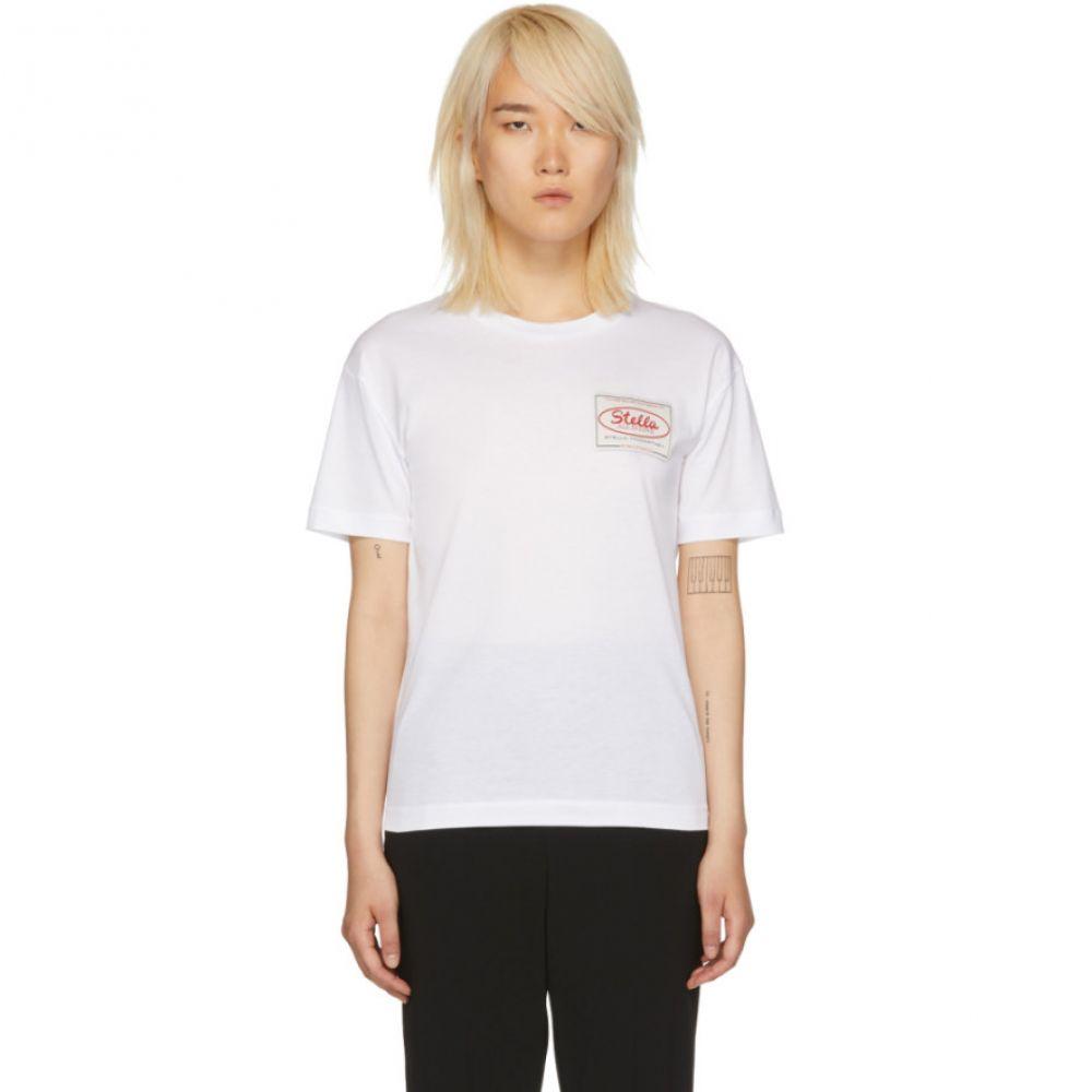 ステラ マッカートニー レディース トップス Tシャツ【White 'Stella Tag' T-Shirt】