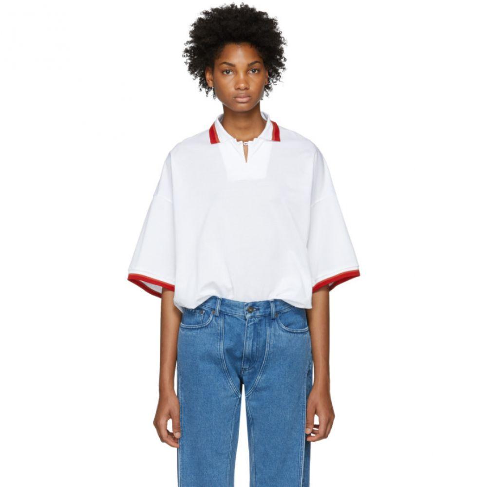 ファセッタズム レディース トップス ポロシャツ【White Unisex Polo Shirt】