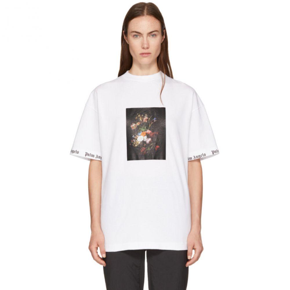 パーム エンジェルス レディース トップス Tシャツ【White Flower Pot T-Shirt】