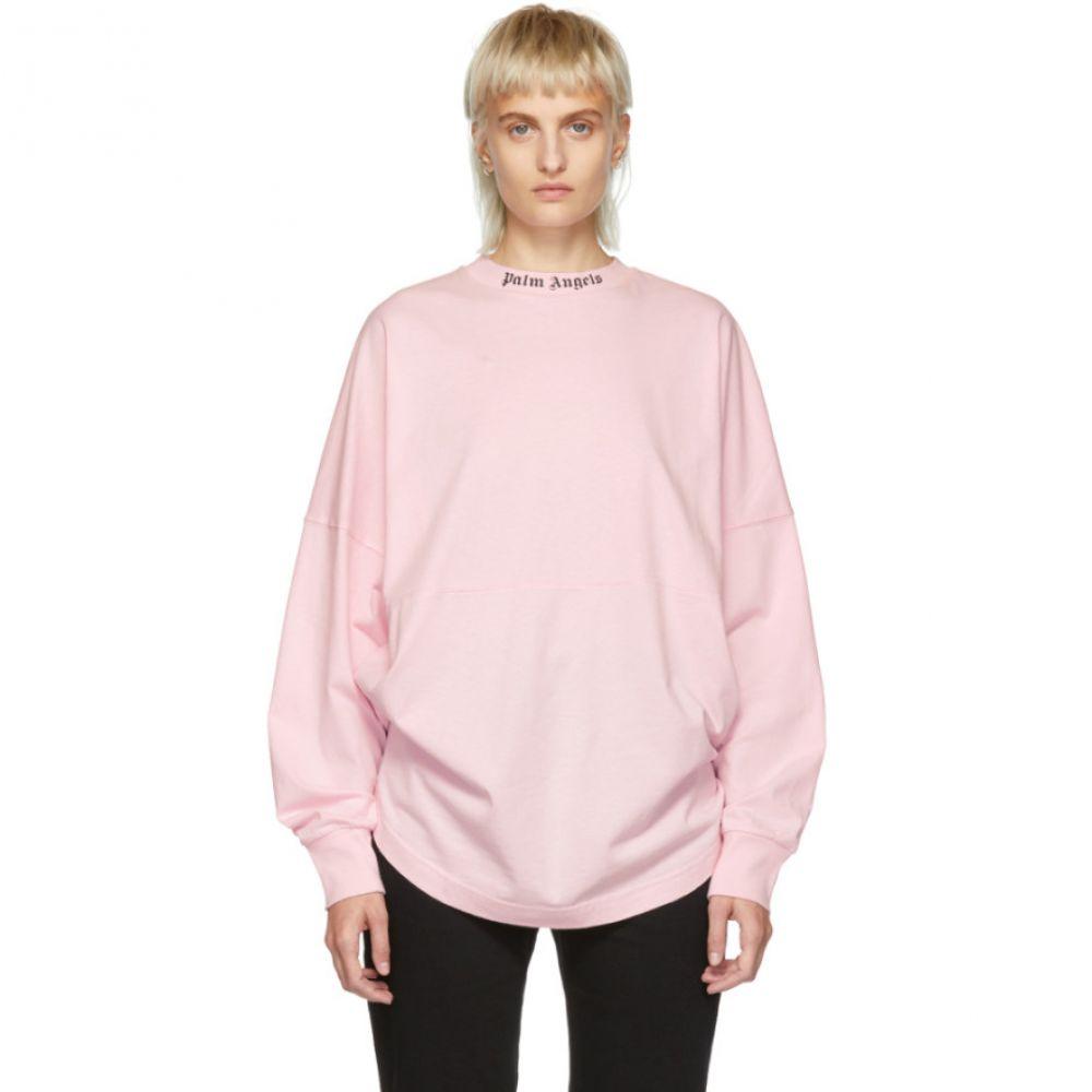 パーム エンジェルス レディース トップス 長袖Tシャツ【Pink Oversized Long Sleeve T-Shirt】