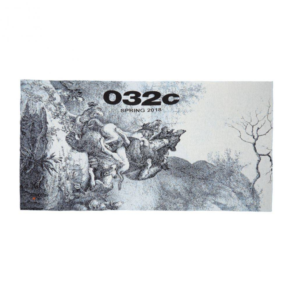 032c メンズ マフラー・スカーフ・ストール【Blue WWB Barenhetze Throw】