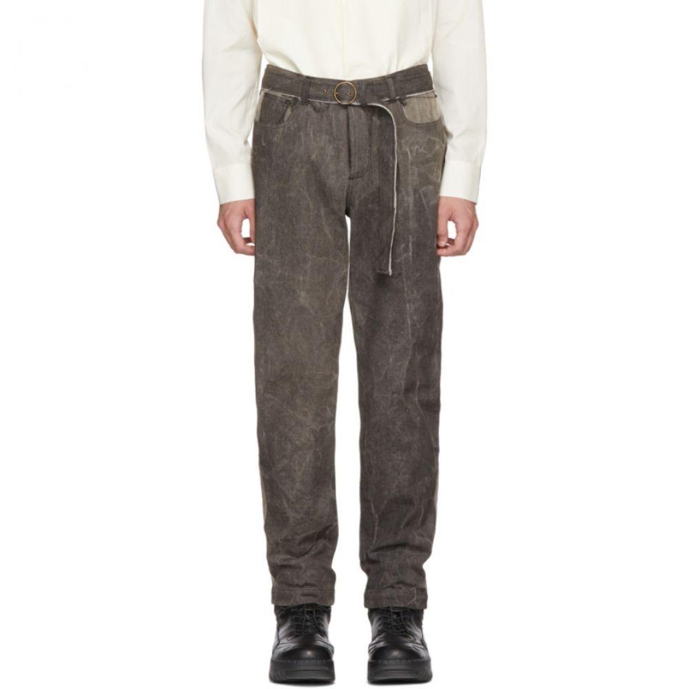 セント アンリ メンズ ボトムス・パンツ ジーンズ・デニム【SSENSE Exclusive Grey & Black Garage Jeans】