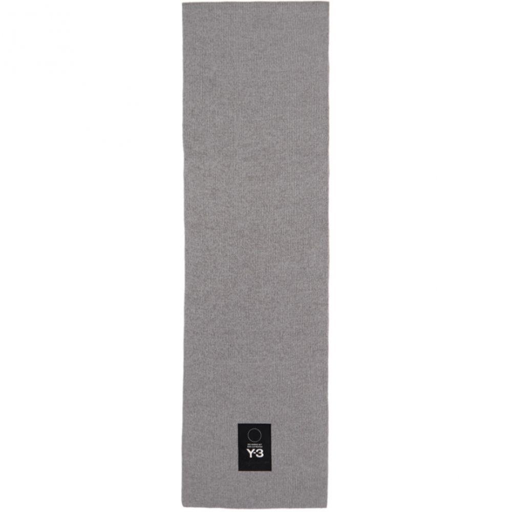 ワイスリー メンズ マフラー・スカーフ・ストール【Grey Logo Scarf】