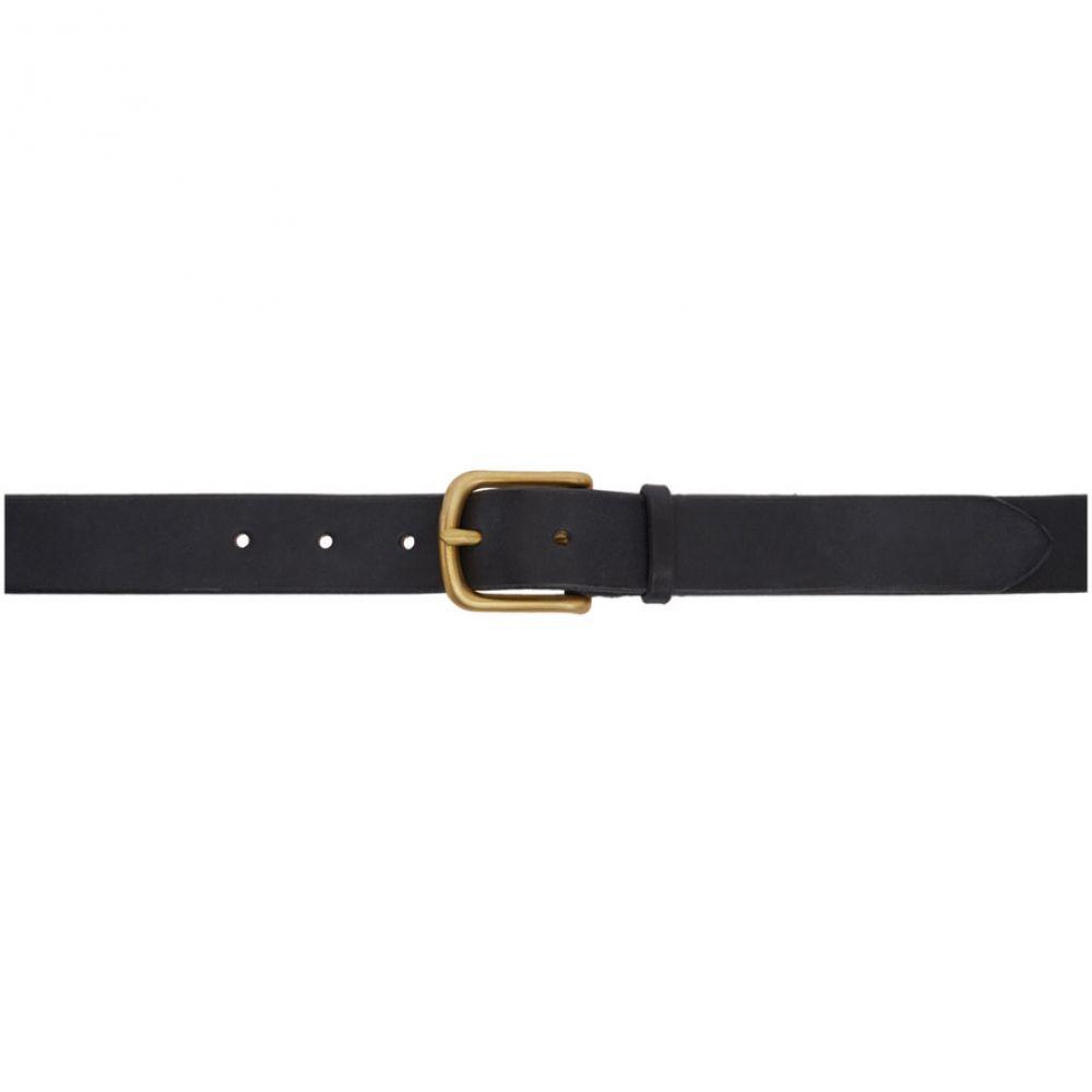 マキシマム ヘンリー メンズ ベルト【Black & Gold Wide Standard Belt】