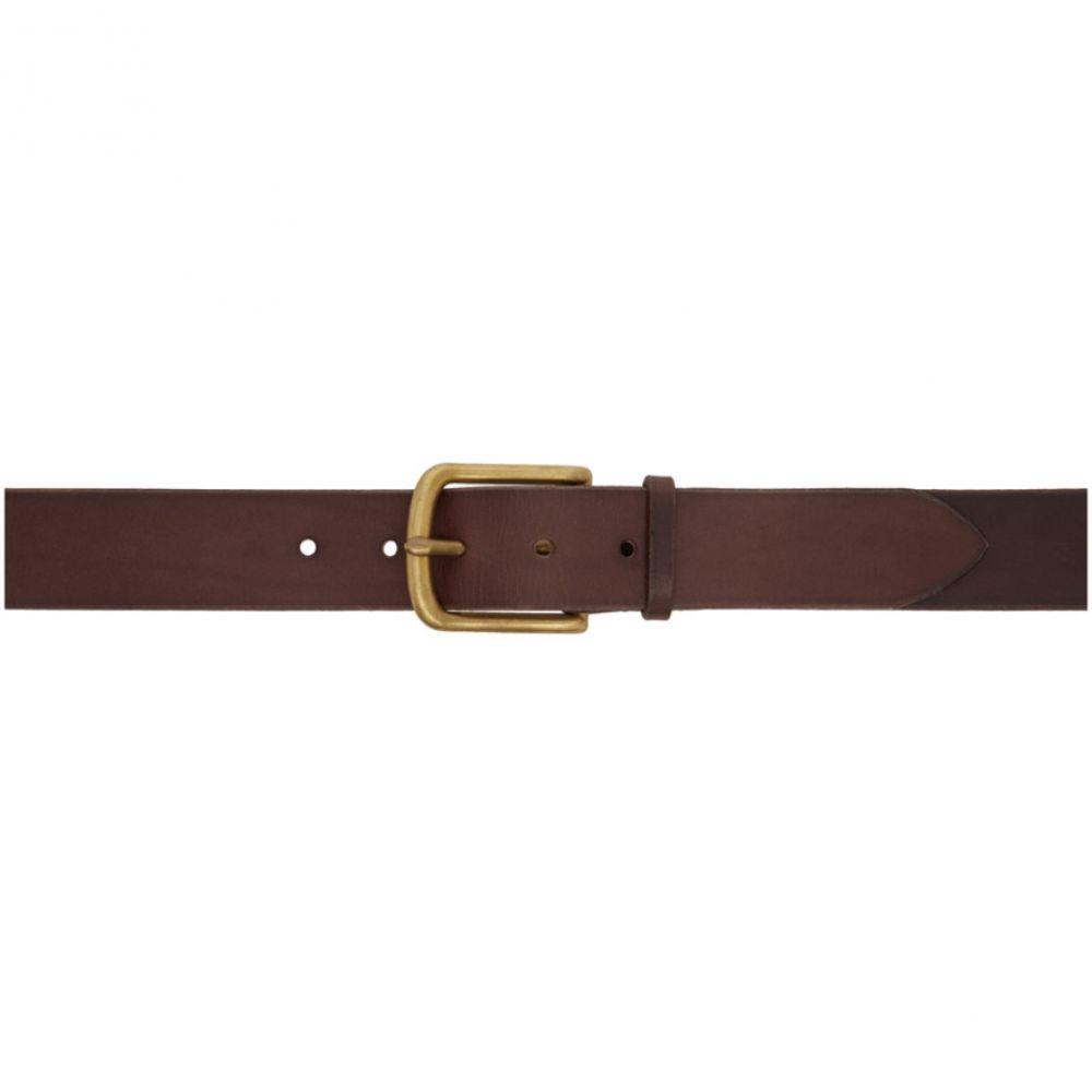 マキシマム ヘンリー メンズ ベルト【Brown & Gold Standard Very Wide Belt】