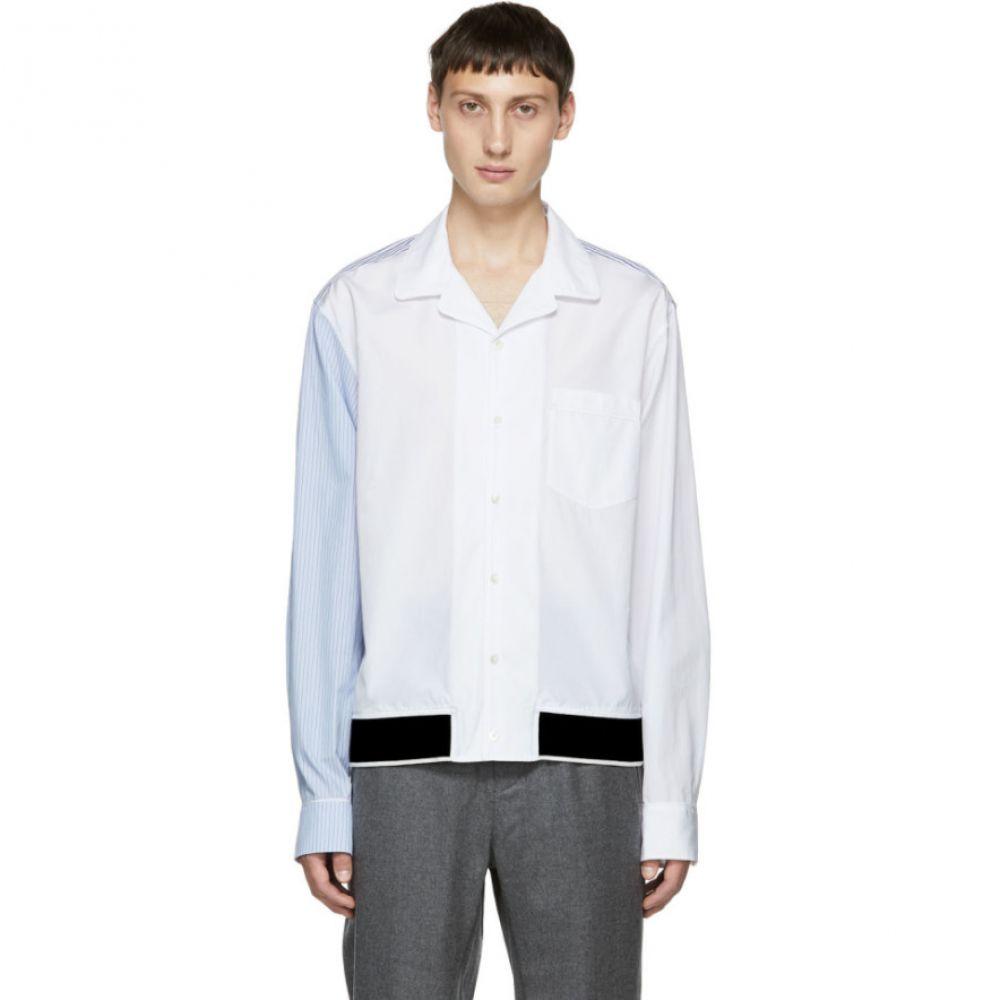 スリーワン フィリップ リム メンズ トップス シャツ【White Pajama Souvenir Shirt】