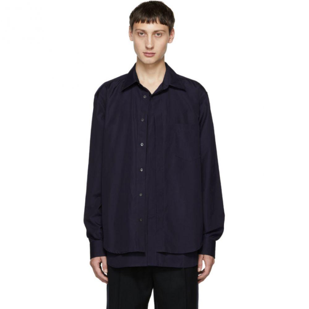 スリーワン フィリップ リム メンズ トップス シャツ【Blue Double Layered Shirt】