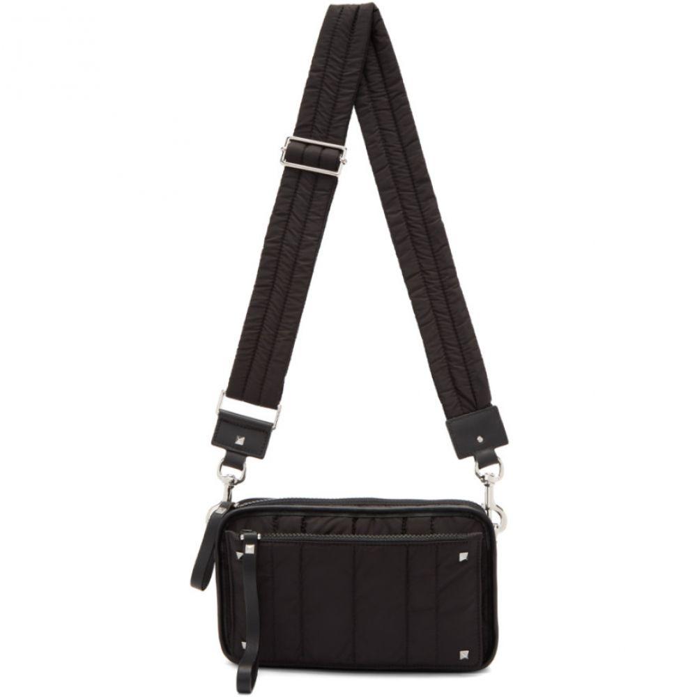 ヴァレンティノ メンズ バッグ メッセンジャーバッグ【Black Valentino Garavani Small Nylon Messenger Bag】