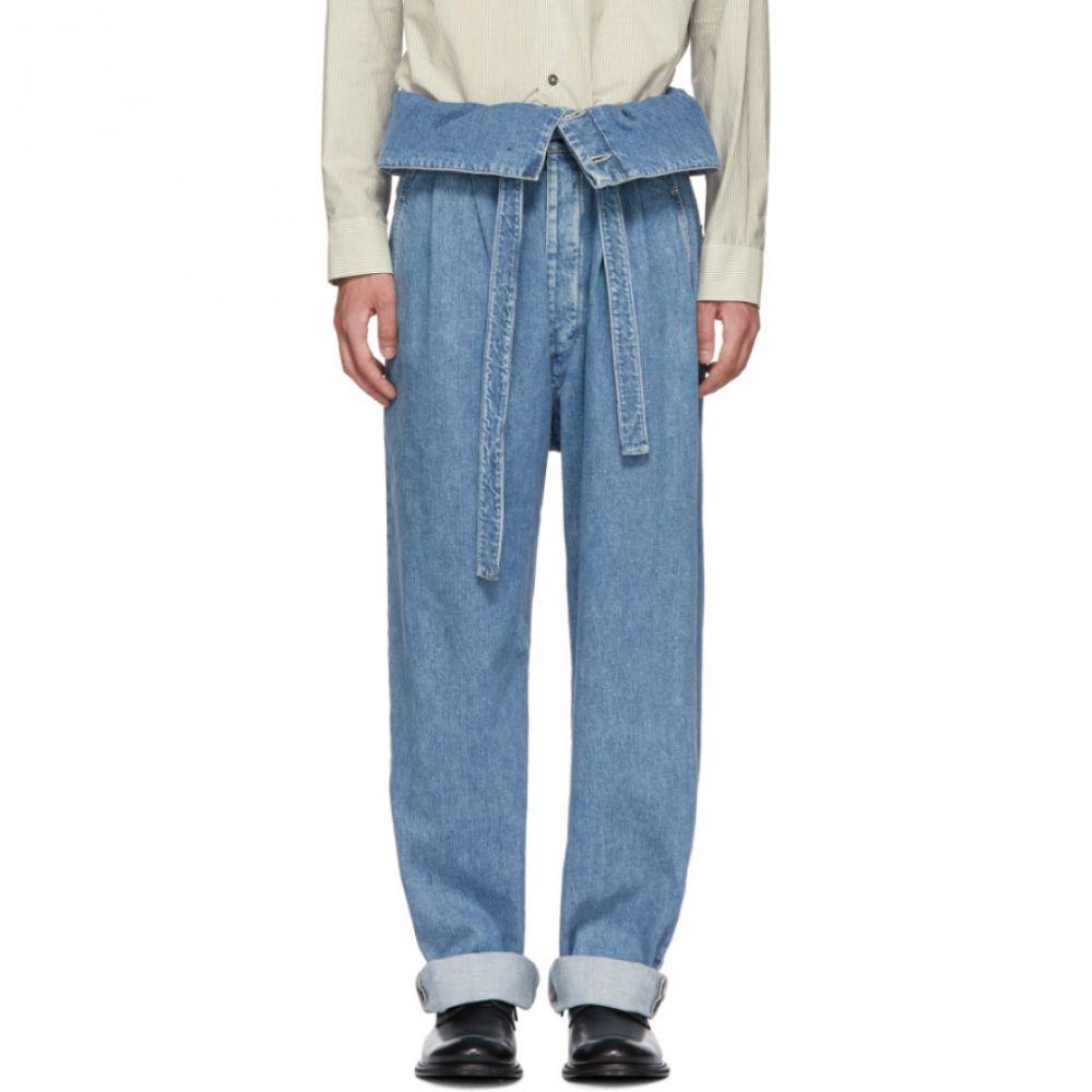 ロエベ メンズ ボトムス・パンツ ジーンズ・デニム【Indigo Belted Pleated Oversized Jeans】
