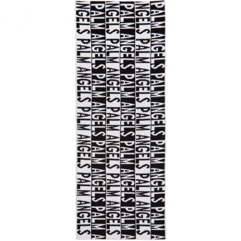 パーム エンジェルス メンズ マフラー・スカーフ・ストール【Black & White Logo Scarf】
