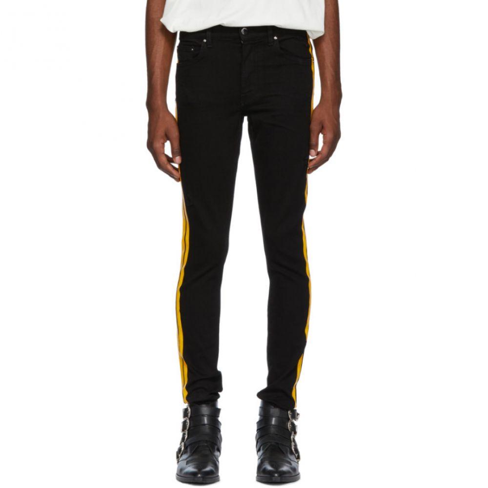 アミリ メンズ ボトムス・パンツ ジーンズ・デニム【Black & Yellow Stack Track Jeans】