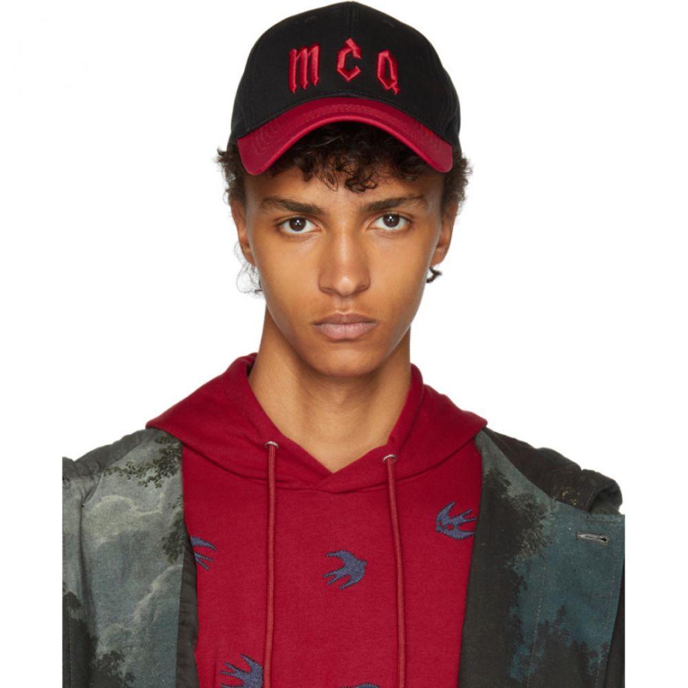 アレキサンダー マックイーン メンズ 帽子 キャップ【Black & Red 3D Baseball Cap】