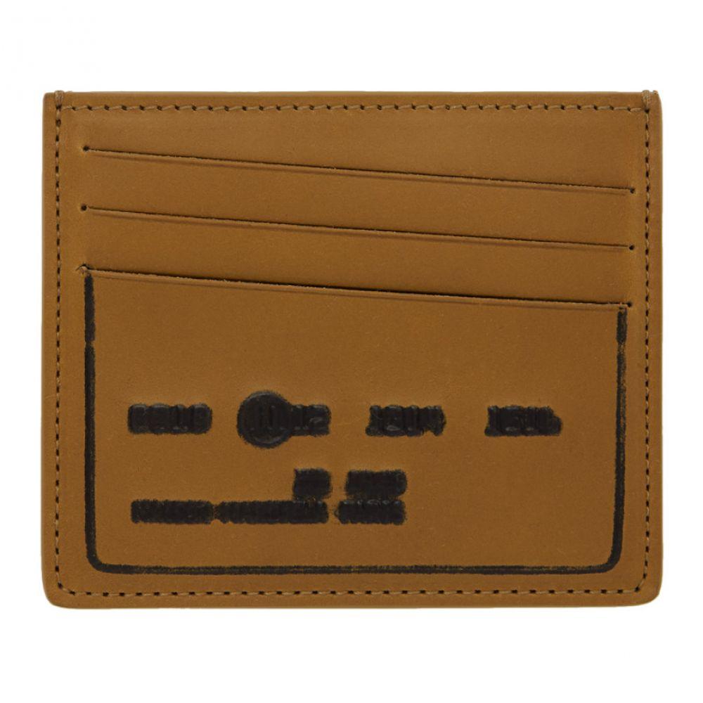 メゾン マルジェラ メンズ カードケース・名刺入れ【Brown Debossed Card Holder】