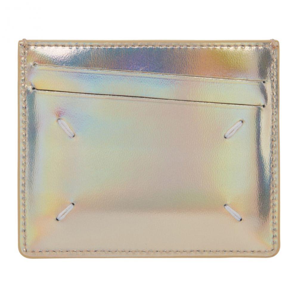 メゾン マルジェラ メンズ カードケース・名刺入れ【Gold Metallic Card Holder】