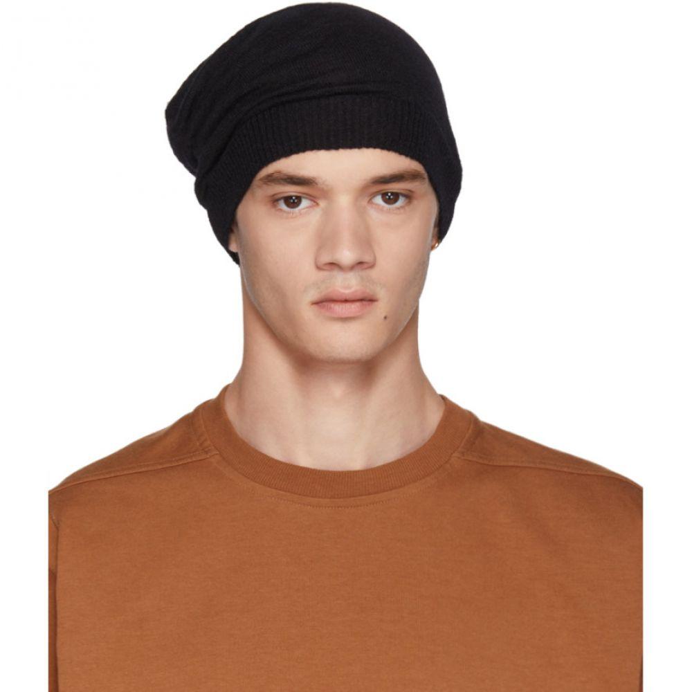 リック オウエンス メンズ 帽子 ニット【Black Medium Beanie】