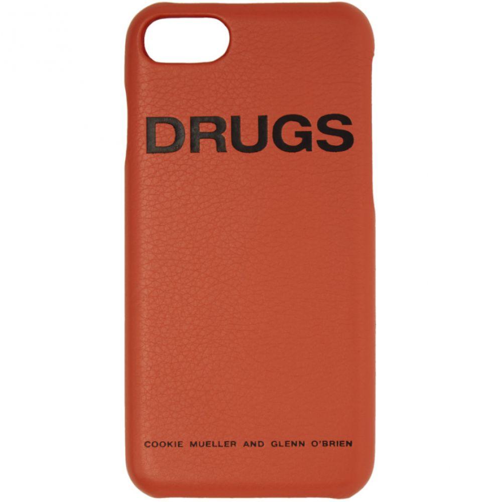 ラフ シモンズ メンズ iPhone (7)ケース【Orange 'Drugs' iPhone 7 Case】