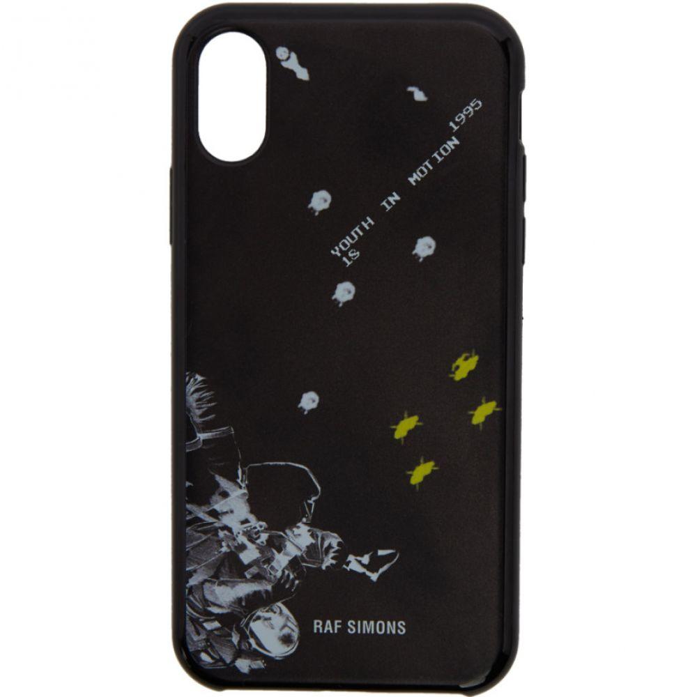 ラフ シモンズ メンズ iPhone (X)ケース【Black 'Youth In Motion' iPhone X Case】