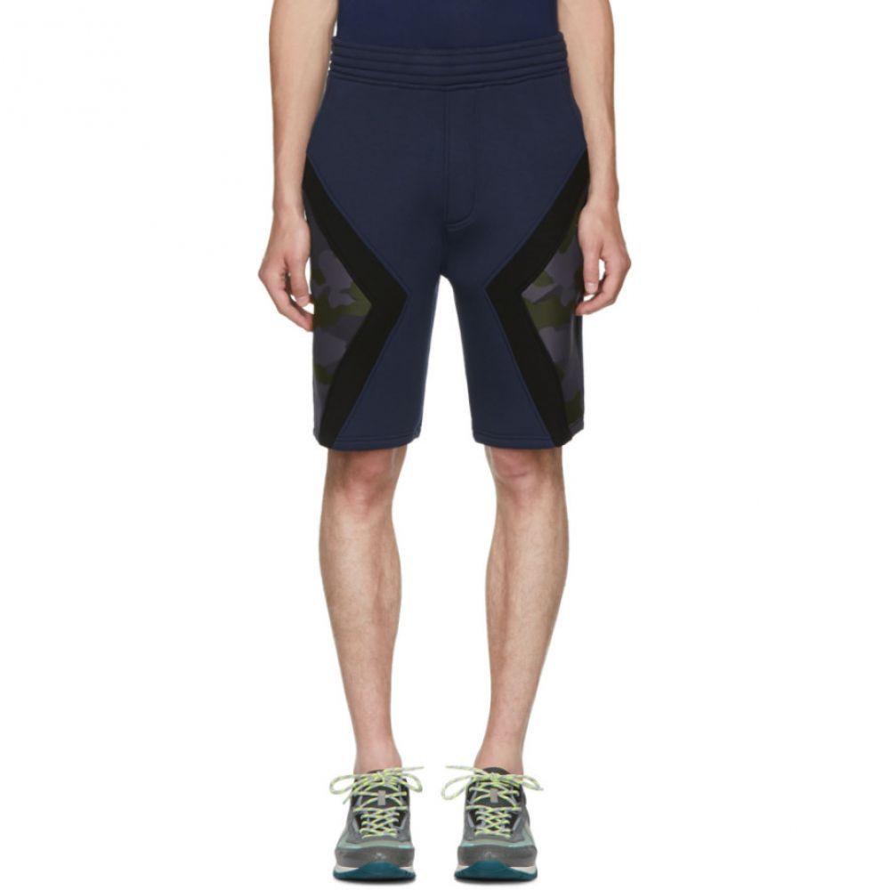 ニール バレット メンズ ボトムス・パンツ ショートパンツ【Navy Iconic Camo Modernist Shorts】