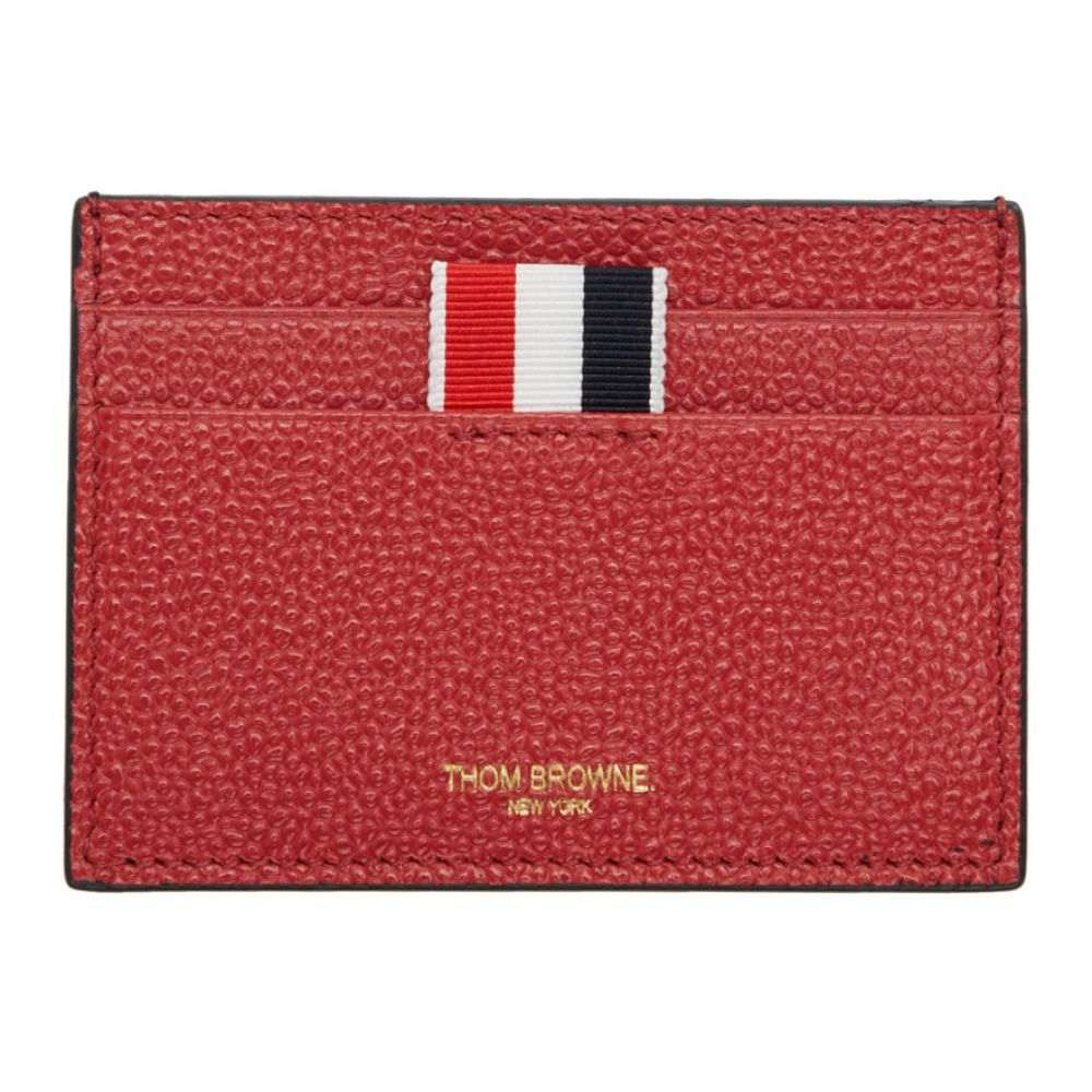 トム ブラウン メンズ カードケース・名刺入れ【Red Leather Card Holder】