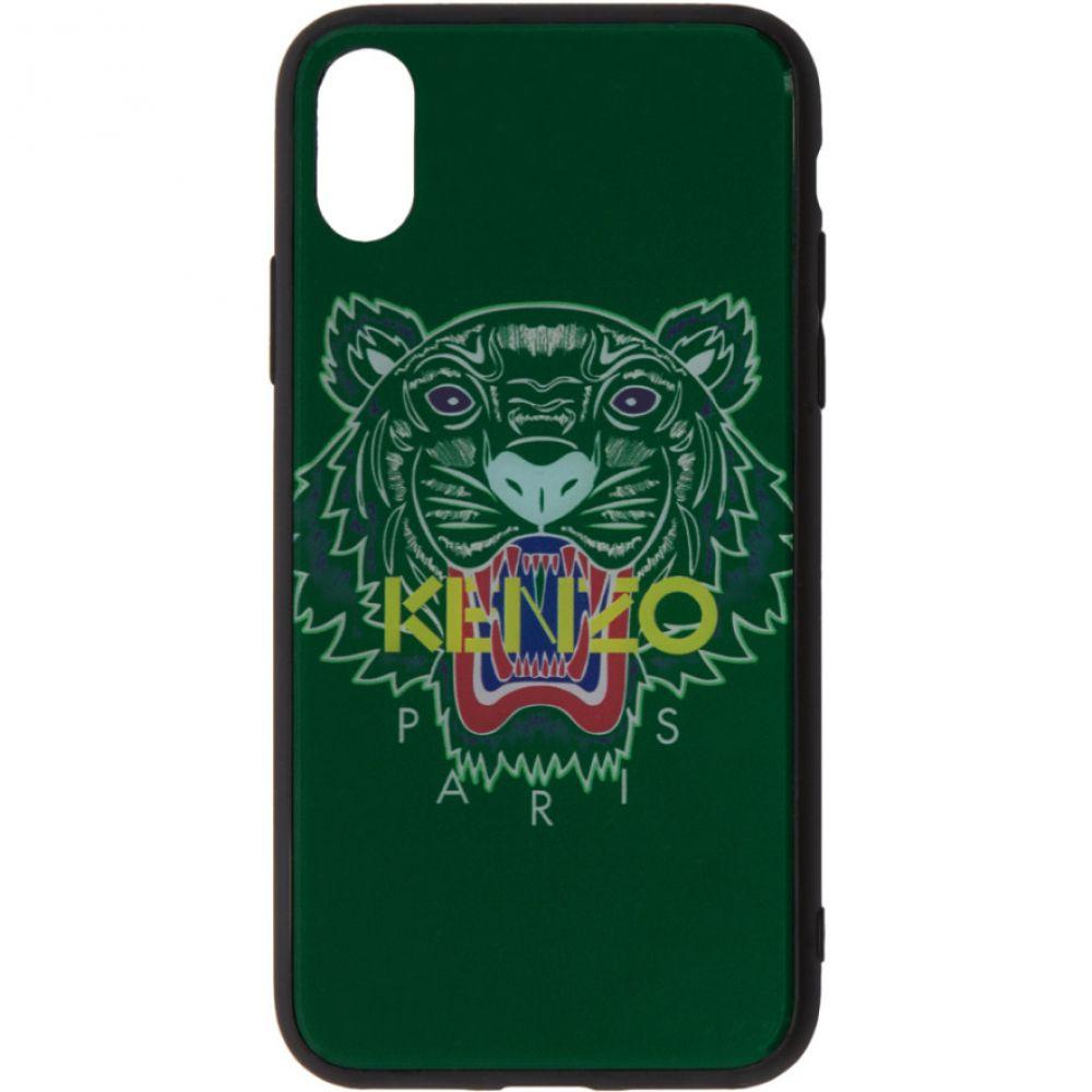 ケンゾー メンズ iPhone (X)ケース【Green Tiger iPhone X Case】