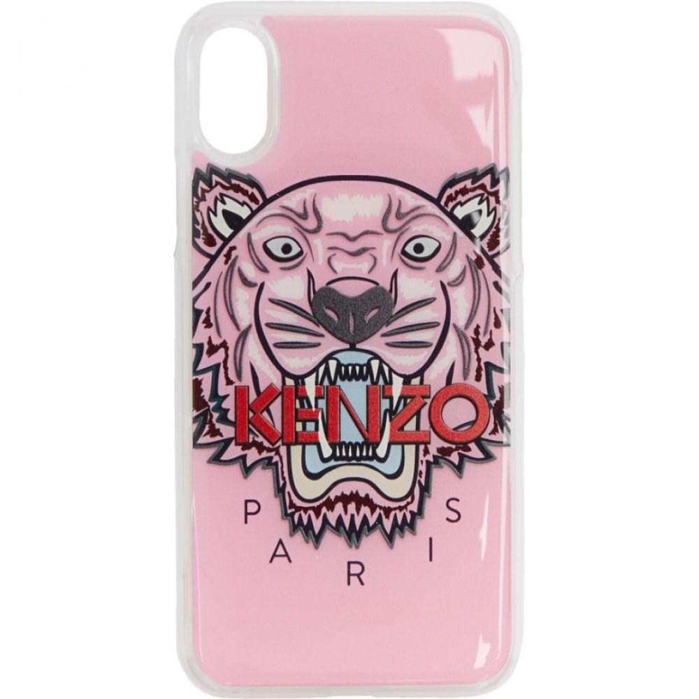 ケンゾー メンズ iPhone (X)ケース【Pink 3D Tiger iPhone X Case】