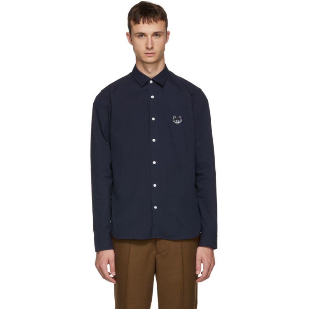 ケンゾー メンズ トップス シャツ【Navy Tiger Urban Slim Shirt】