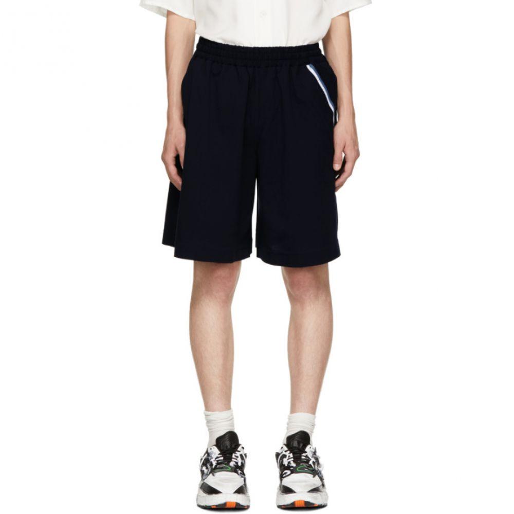 ファセッタズム メンズ ボトムス・パンツ ショートパンツ【Navy Athletic Striped Shorts】