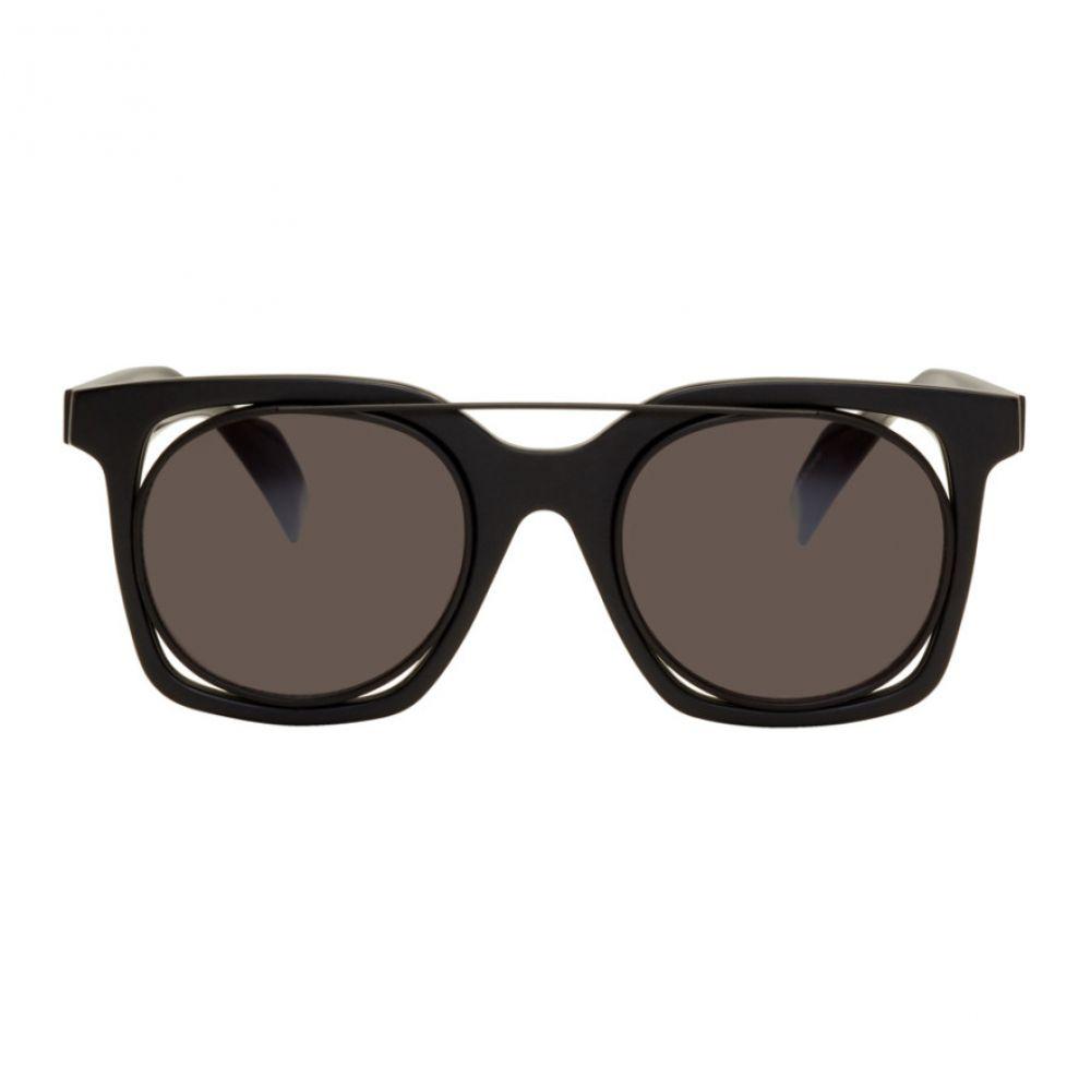 ヨウジヤマモト メンズ メガネ・サングラス【Black Square Wire Frame Sunglasses】